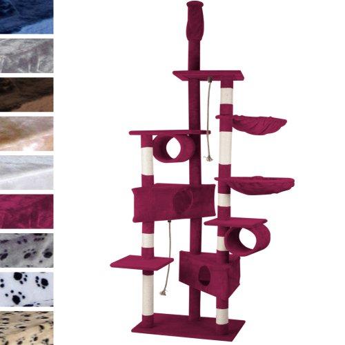 leopet-arbre-a-chat-geant-hauteur-plafond-230-250-cm-griffoir-en-fibre-de-sisal-bordeaux-coloris-au-