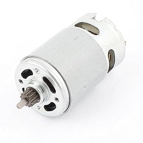 sourcingmap® DC 12V 2000 TR/MN Torque Double Arbre Magnétique Vitesses Boîte Moteur Électrique