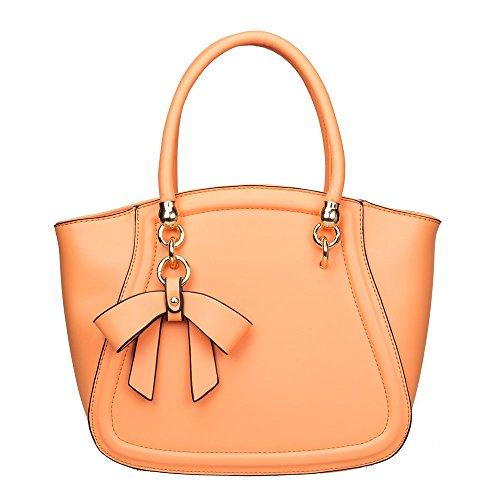 Elegant Fashions ,  Mädchen Damen Baby-Unisex Tasche Orange