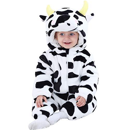 24cb956e41 LPATTERN Mono de Franela Invierno para Bebés Unisex Mameluco con Capucha  Disfraz de Animales Frutas