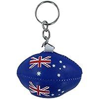 Porte clé clés clefs rugby drapeau australie australien mini ballon