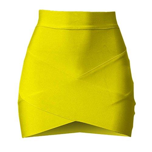 FINEJO Stylish Lady Women's Casual Party Fashion Stretch Bodycon Short Sexy Slim Mini Skirt