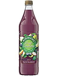 Robinsons Fruit Creations Juicy Pear & Blueberry No Added Sugar, 1 L
