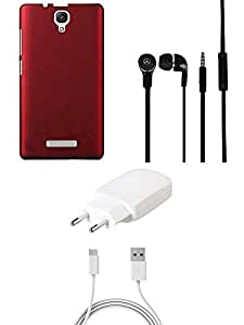 NIROSHA Cover Charger Headphone / Hands Free for Lenovo A2010 - Combo