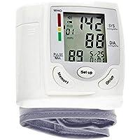 Esfigmomanómetro Monitor de presión arterial portátil de muñeca Monitor LCD Monitor de ritmo cardíaco Medidor de pulso Medición de la presión arterial del hogar Instrumento de medición