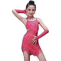 BOZEVON Ragazza Vestiti da Ballo Abito Vestito con Paillettes Abbigliamento  da Danza Abiti di Danza Latina b0ab974cafa7