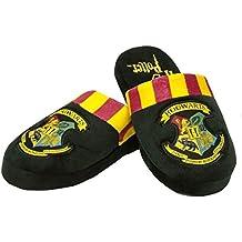 Harry Potter Hombres oficiales Hogwarts Crest Adulto Negro Mula Zapatillas