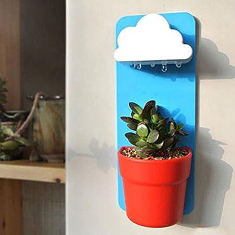 Chinatera Creative Nubes lluviosos Pot Maceta de pared Patio Plantas Decoración del hogar