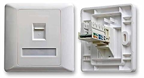 Einzige Eine Bande Cat5 Steckdose / 1G Cat5 Wandplatte Panel / Einzige Ethernet/Netzwerk Port / Beladen / Weiß