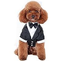 Keysui Pet Dog Clothes Solid-Colored indossare bretelle Business Suit adatto per primavera e estate