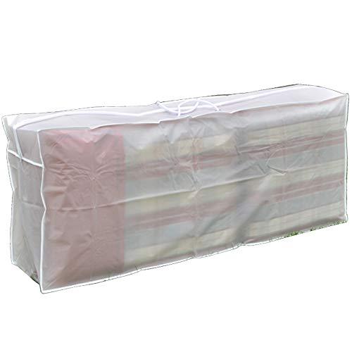 JEMIDI Auflagentasche Auflagen Tasche für Hochlehner 125cm x 30cm x 50cm Polsterauflagen Schutzhülle Tasche Aufbewahrung Gartenstuhlauflagen Polster