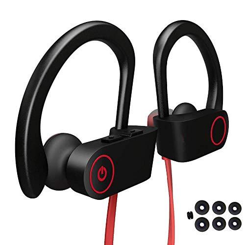 Cuffie Bluetooth Fitness Wireless, Auricolari Bluetooth Senza Fili Running Jogging Gym Workout Ciclismo Sport Microfono Stereo in Ear - samsung huawei xiaomi (110 mAh 8 ore Musica)