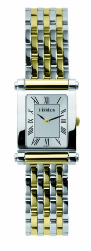 michel-herbelin-antares-womens-quartz-watch-with-white-dial-analogue-display-and-multicolour-stainle