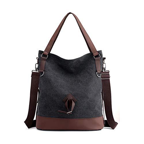 Nlyefa Damen Tasche Canvas Umhängetasche Handtasche Groß Schultertasche Vintage für Arbeit Schule Alltag EINWEG