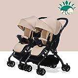 Babylife Zwillingskinderwagen/nebeneinander/für Kinder von 0-36 Monaten/abnehmbar