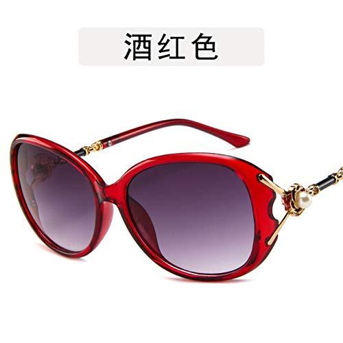 ZYG999 Pearl Übergroße quadratische Sonnenbrille Weibliche Luxusmarke Designer Retro Damen Sonnenbrille Fashion Big Box Sonnenbrille