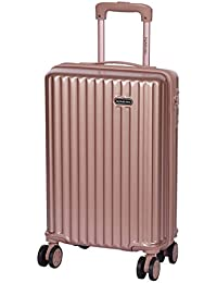 ROMEING Genoa Polycarbonate (20 Inch | 55 cm) Hard-Sided Cabin Luggage (Rosegold, Silver, WineRed) Trolley Bag