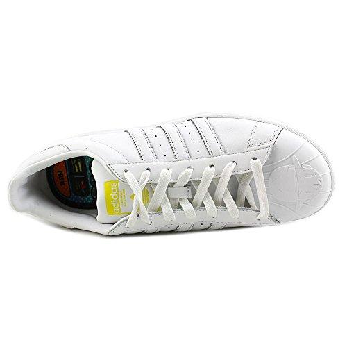 Adidas Superstar Pharrell supershell Mens Skateboarding-chaussures S83350 White-White