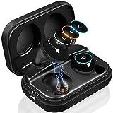 MYCARBON Bluetooth Kopfhörer Kabellos in Ear V5.0 Bluetooth Headset Sport IPX7 Wasserdicht Stereo True Wireless Kopfhörer mit Mikrofon, 3Farblicht und Ladebox, für iPhone, Android, Samsung, ipad usw.