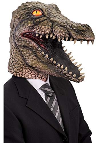 Krokodilmaske Lattice Karneval Halloween Erwachsene Alligator ()