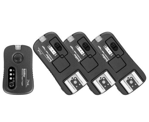 Pixel Soldier TF-372 Blitzauslöser/ Kameraauslöser SET mit 3 Empfängern für Nikon Kameras