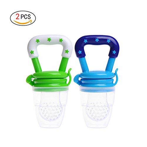 rische Lebensmittel Milch Nibbler Feeder Fütterung Safe Baby Supplies Nippel Teat Schnuller Flaschen (M) (Schnurrbart-leuchten)