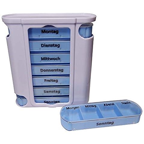 Pill Dispenser weekly Distribution Pill Tower Box 7Days Pill Box 1 Pillenbox für 7 Tage