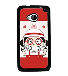PrintDhaba Cartoon D-5461 Back Case Cover for HTC ONE M7 (Multi-Coloured)