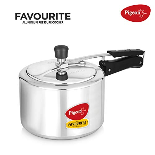 Pigeon by Stovekraft Favourite Alluminum Pressure Cooker with Inner Lid,...