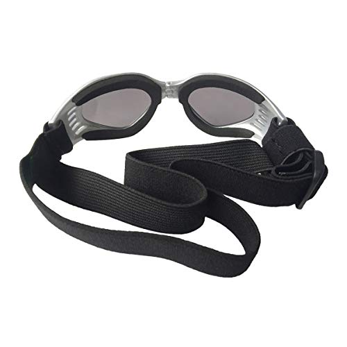 Josopa Faltbare Brille für Haustiere UV-Sonnenbrille Sonnenbrille Brille Schutzbrillen Schutzbrille Coole Deco-Sonnenbrille für mittelgroße Haustiere Hunde Brille Welpenbrillen Winddichter UV-Schutz,