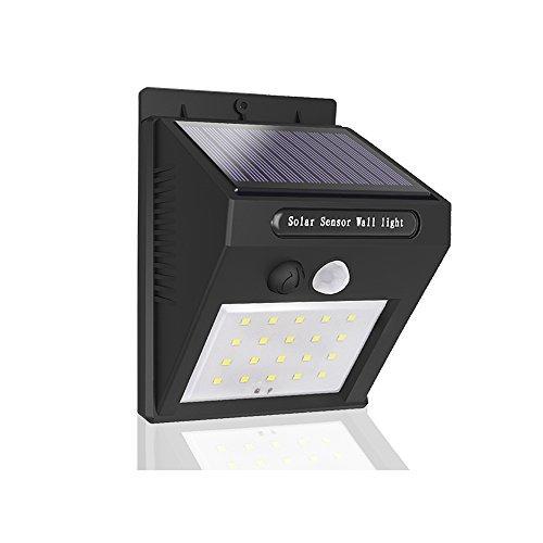 Solarlampe mit Bewegungsmelder außen Wasserdicht, mocobe LED-Solarleuchte Sicherheit Wandleuchte Energiesparende Solar Laterne Bewegungs-Sensor-Licht für Garten,Patio,Deck,Türe,Auffahrt,Veranda, 1-Pack