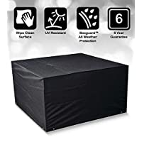 Bosmere Protector 6000 Modular 4 Seat Cube Set Cover, Large - Black, M650
