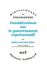 Considérations sur le gouvernement représentatif