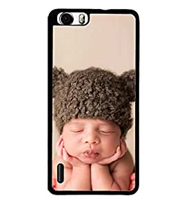Cute Kid with Brown Cap 2D Hard Polycarbonate Designer Back Case Cover for Huawei Honor 6