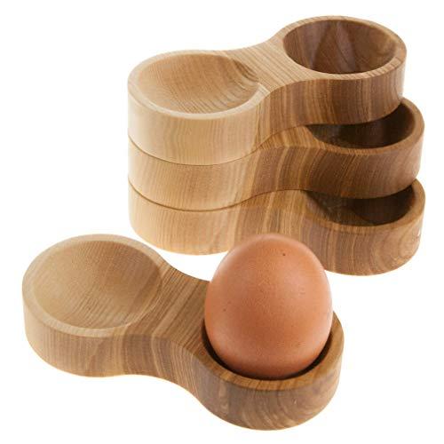 Rasch Design Eierbecher Holz mit Mulde für die Eierschalen | aus edlem Massivholz (Esche, 4) preisvergleich