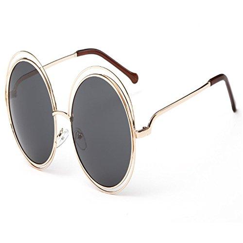 O-C Damen Sonnenbrille Gold gold frame,black lens