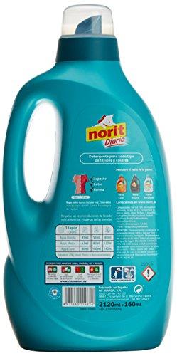 Norit,  Detergente Diario Toda la Ropa,  2120 ml,  2 Unidades (Total 4240 ml)
