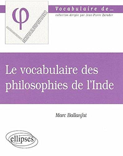 Le vocabulaire des philosophies de l'Inde