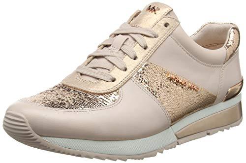 Michael Kors Allie Wrap Trainer, Zapatillas para Mujer, Rosa (Soft Pink 187), 37 EU