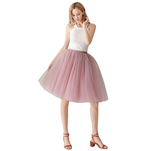 ShowYeu Women's A-line 60CM Petticoat Tulle Skirts, used for sale  Delivered anywhere in UK