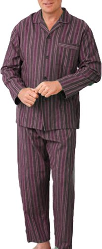 New Mens CHAMPION Wyncette Brushed Cotton Pyjama nightwear lounge wear Wine 2XL