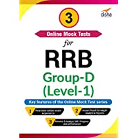 Disha Publication 3 Online Mock Tests for RRB Group-D (Level-1) (Email Delivery in 2 Hours - No CD)