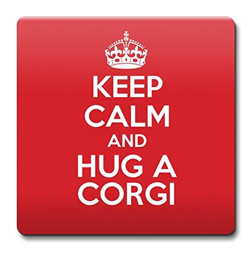 Image of KEEP CALM and Hug a Corgi Coaster Coffee Cup Gift Idea present dogs