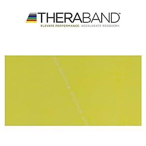 Thera-Band original Übungsband + Übungsbuch gratis color: yellow