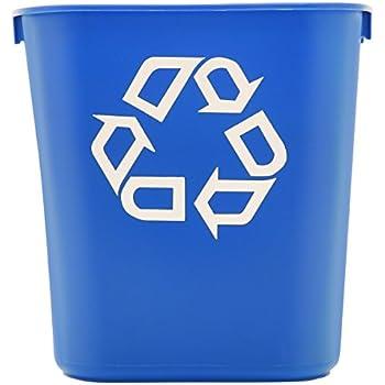 Rubbermaid Commercial 3.4gal Plastic Small Deskside