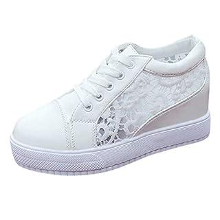 KERULA Women Fashion Casual Shoes, LäSsig SchnüRen Mesh Atmungsaktiv Zunehmende Sportschuhe Turnschuhe Breathable Sport Low Top Damenschuhe und Herrenschuhe Laufschuhe Elastische Sneakers