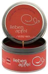 Kerze Duft Dose 55x80mm Weihnachten rot Liebesapfel
