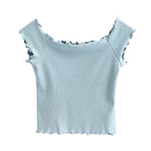 WanYang Damen shirt Kurzarmshirt Sommer Blusen Top Off Shoulder Blusen Sexy  Party Club T-Shirts