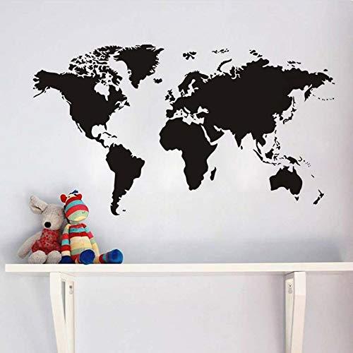 guijiumai Atlas World Map Wall Sticker Creativo Soggiorno Decorazione Carta da Parati per Adesivi Camera da Letto Vintage Home Decor Art Murales 8 105X60