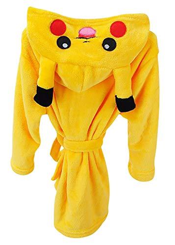 Dolamen Kinder Jungen Mädchen Morgenmantel Bademäntel Kapuzenpullover Korallenvlies Kigurumi Karikatur Nachtwäsche Nachthemd Schlafanzug (130 fit für Höhe 120-130cm (47